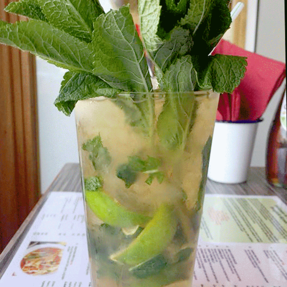 Mojito packed with mint and lime